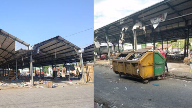 DLH Jamin Pasar Relokasi Keniten Bersih Dari Tumpukan Sampah Pasca Ditinggal Pedagang