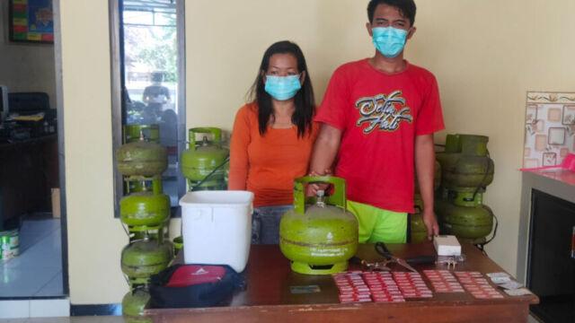 Pasangan Suami Istri Nekat Mencuri 50 Tabung LPG 3 Kg